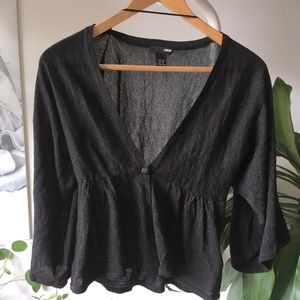3for $20 H&M Sparkle black tailored cardigan XS